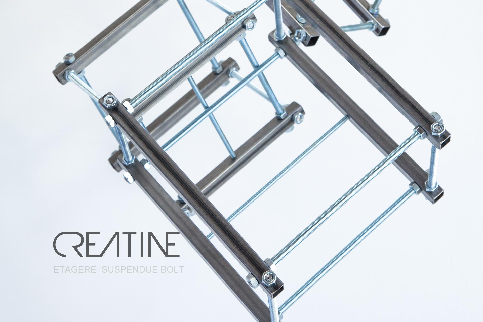 Photographie publicitaire etagere BOLT pour la marque CREATINE