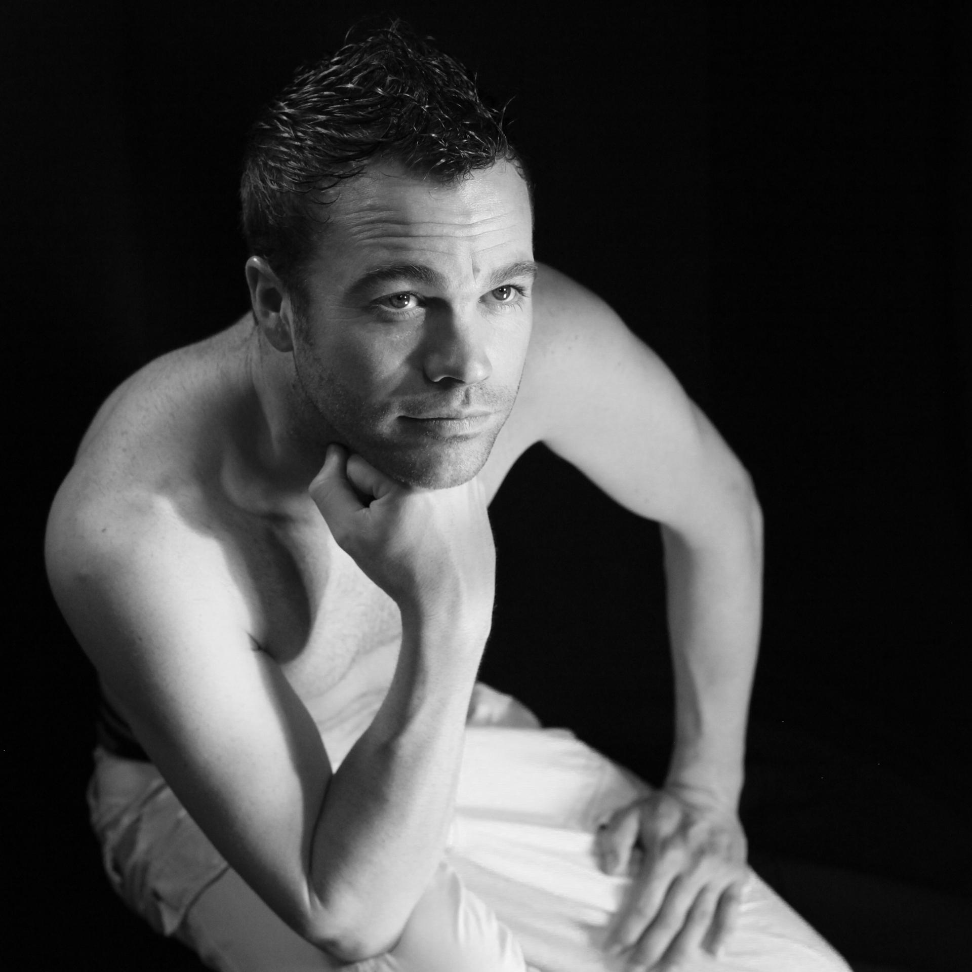 photographie portrait noir et blanc Marc