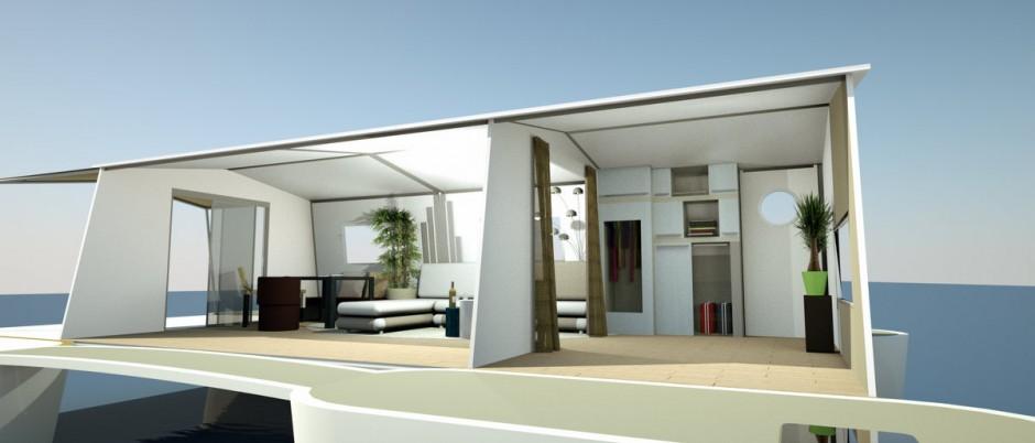 farea design d'espace bateau maison 2- infographie 3D